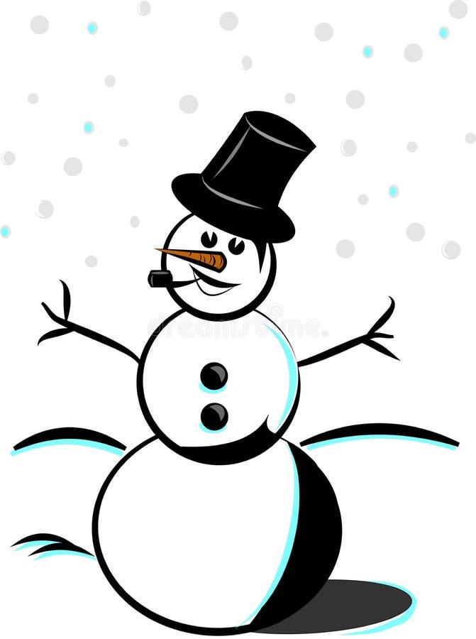 φοβιτσιάρης χιονάνθρωπος απεικόνιση αποθεμάτων