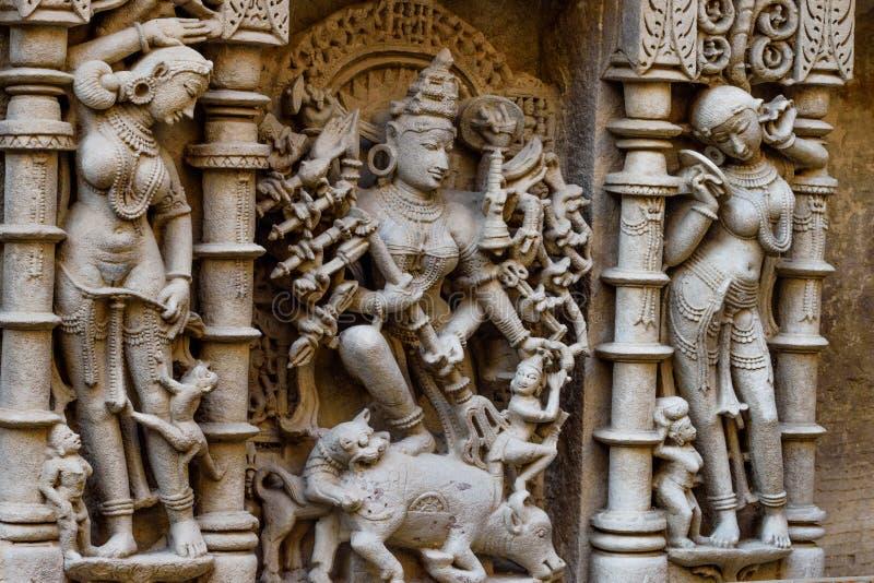 Φονικός δαίμονας θεών στο βήμα Patan καλά στοκ φωτογραφίες
