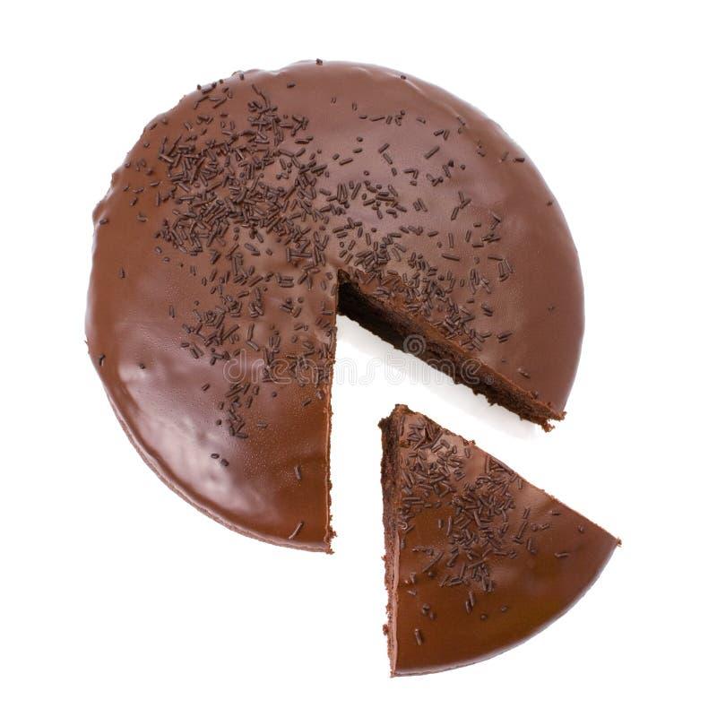 φοντάν σοκολάτας κέικ πο&ups στοκ φωτογραφίες