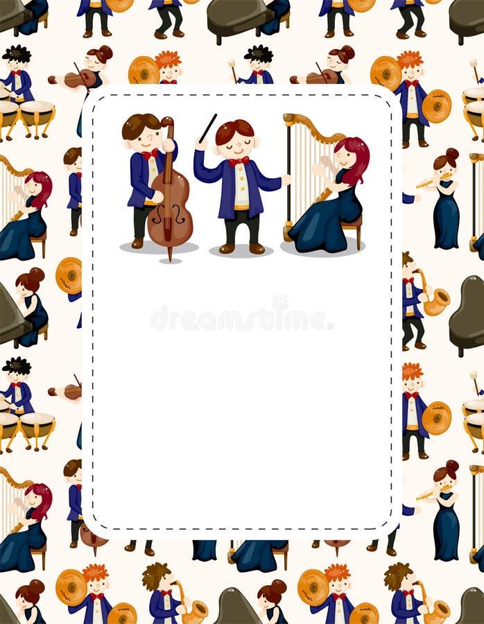 Download φορέας ορχηστρών μουσικής καρτών Διανυσματική απεικόνιση - εικονογραφία από αρσενικό, τύμπανο: 22799531
