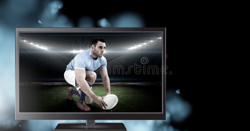 φορέας ράγκμπι στην τηλεόραση στοκ φωτογραφίες με δικαίωμα ελεύθερης χρήσης