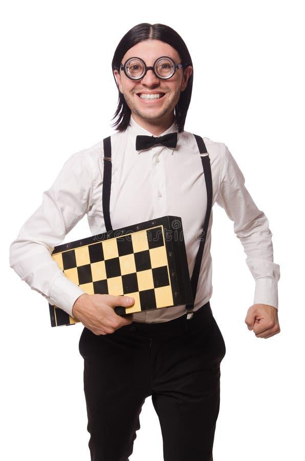 Φορέας σκακιού Nerd στοκ φωτογραφία