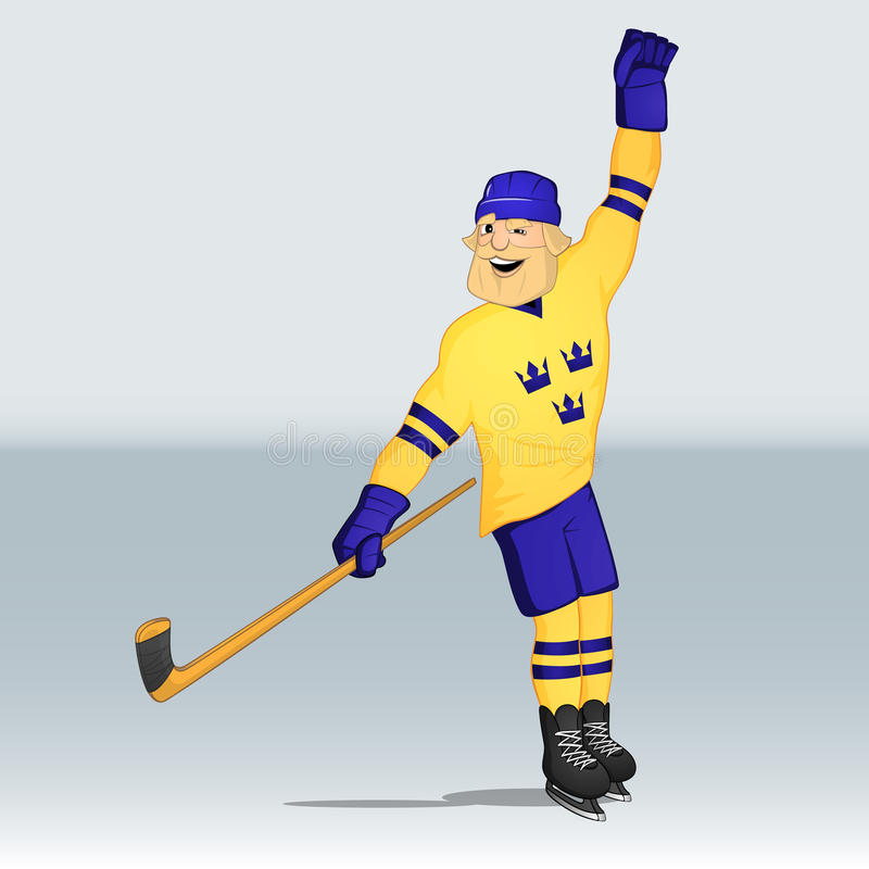 Φορέας της Σουηδίας ομάδων χόκεϊ πάγου ελεύθερη απεικόνιση δικαιώματος