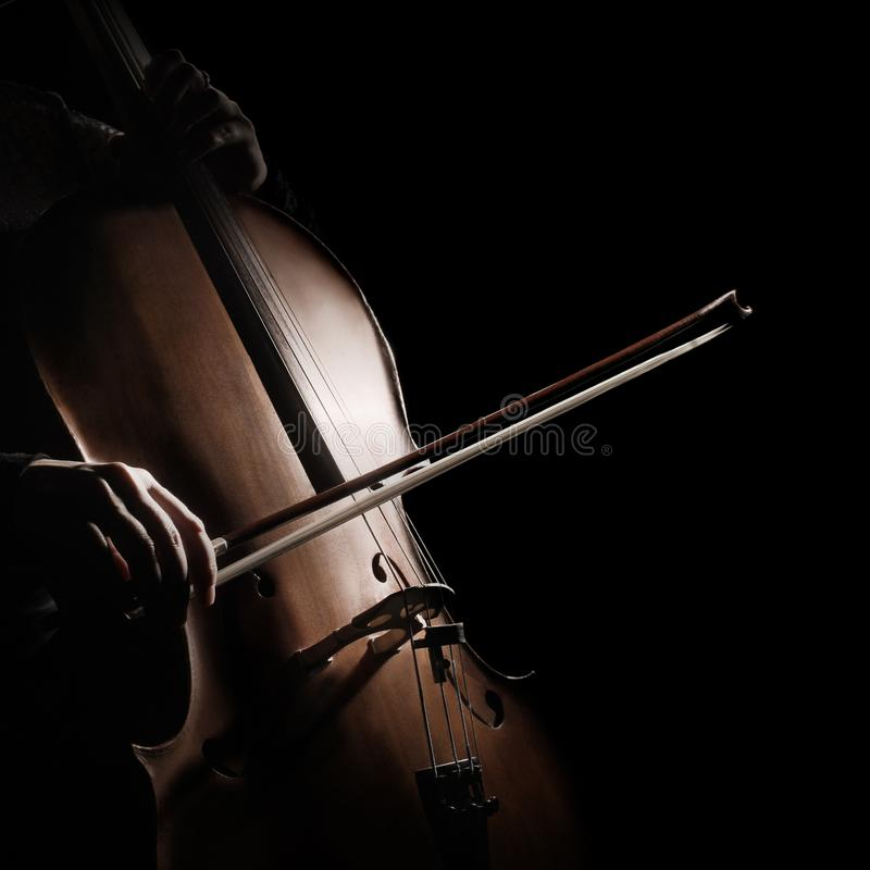 Φορέας violoncello φορέων βιολοντσέλων με το τόξο στοκ φωτογραφία με δικαίωμα ελεύθερης χρήσης