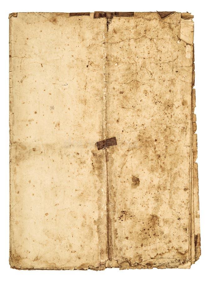 Φορεμένος οι άκρες φύλλων εγγράφου χρησιμοποίησε τη λεκιασμένη σύσταση στοκ εικόνα με δικαίωμα ελεύθερης χρήσης