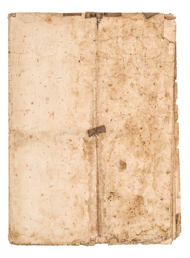Φορεμένος το φύλλο εγγράφου χρησιμοποίησε τη λεκιασμένη σύσταση εγγράφου στοκ εικόνα με δικαίωμα ελεύθερης χρήσης