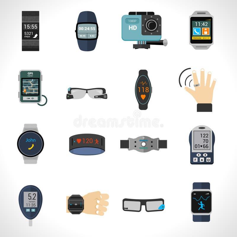 Φορετά εικονίδια τεχνολογίας ελεύθερη απεικόνιση δικαιώματος