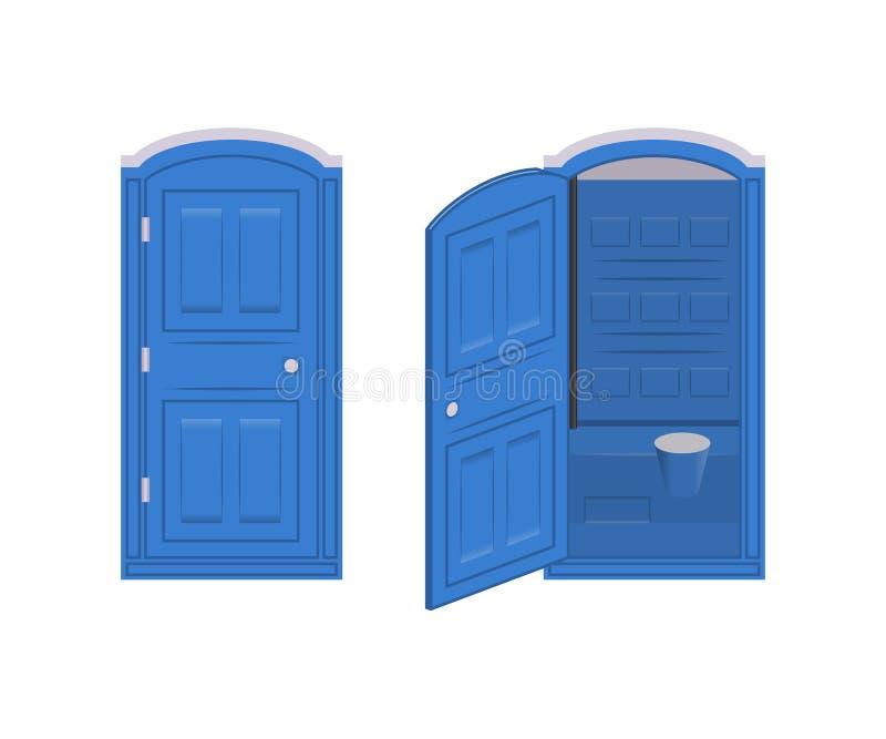 Φορητή χημική τουαλέτα ελεύθερη απεικόνιση δικαιώματος