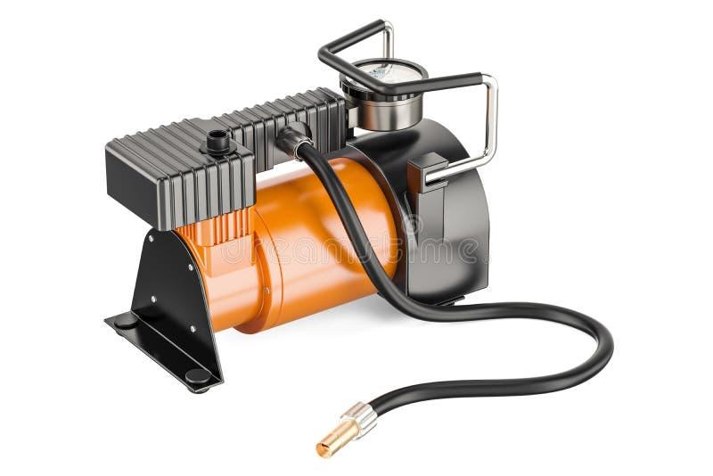 Φορητός ηλεκτρικός αεροσυμπιεστής αυτοκινήτων, τρισδιάστατη απόδοση απεικόνιση αποθεμάτων