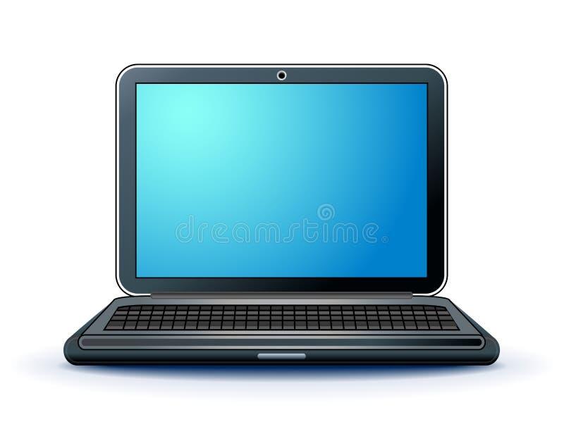 Φορητός προσωπικός υπολογιστής σημειωματάριων απεικόνιση αποθεμάτων