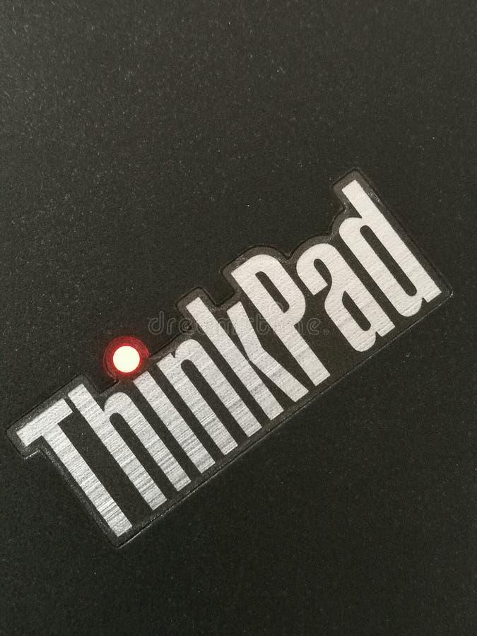 Φορητός προσωπικός υπολογιστής Thinkpad στοκ φωτογραφίες