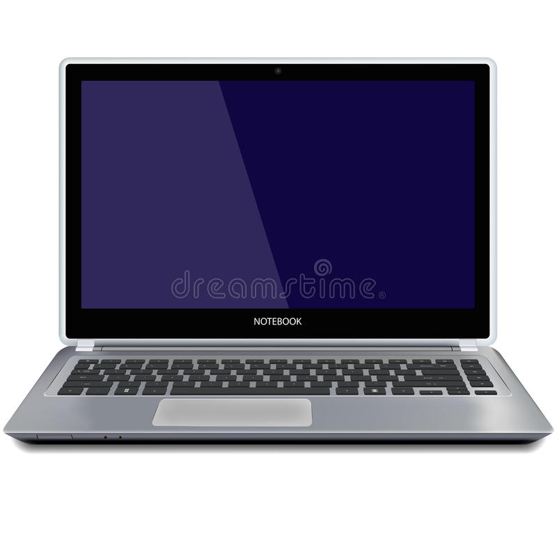 Φορητός υπολογιστής με την κενή οθόνη στοκ εικόνα με δικαίωμα ελεύθερης χρήσης
