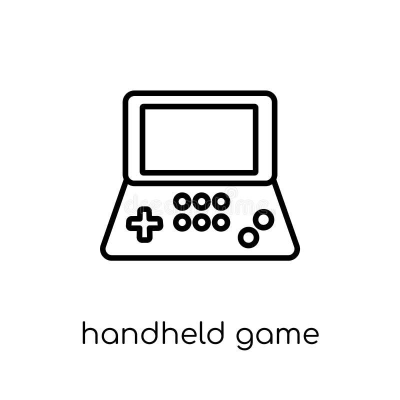 Φορητό εικονίδιο παιχνιδιών Καθιερώνον τη μόδα σύγχρονο επίπεδο γραμμικό διανυσματικό φορητό GA διανυσματική απεικόνιση