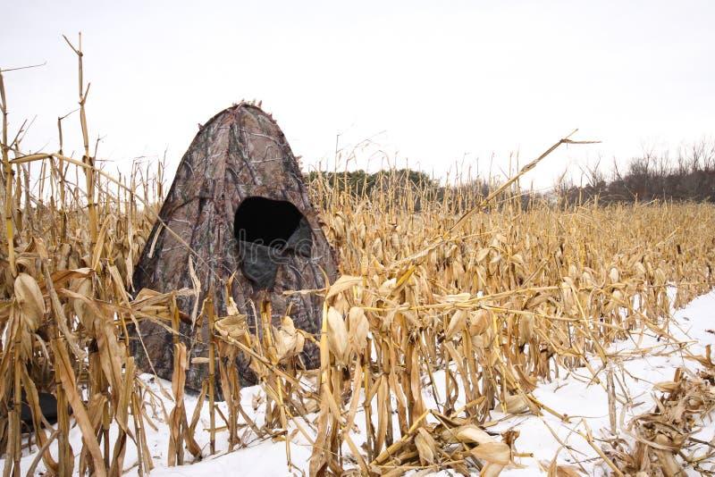 Φορητό κυνήγι τυφλό στοκ εικόνα με δικαίωμα ελεύθερης χρήσης