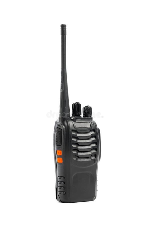 φορητό ραδιο Walkie-talkie στο λευκό στοκ φωτογραφία με δικαίωμα ελεύθερης χρήσης