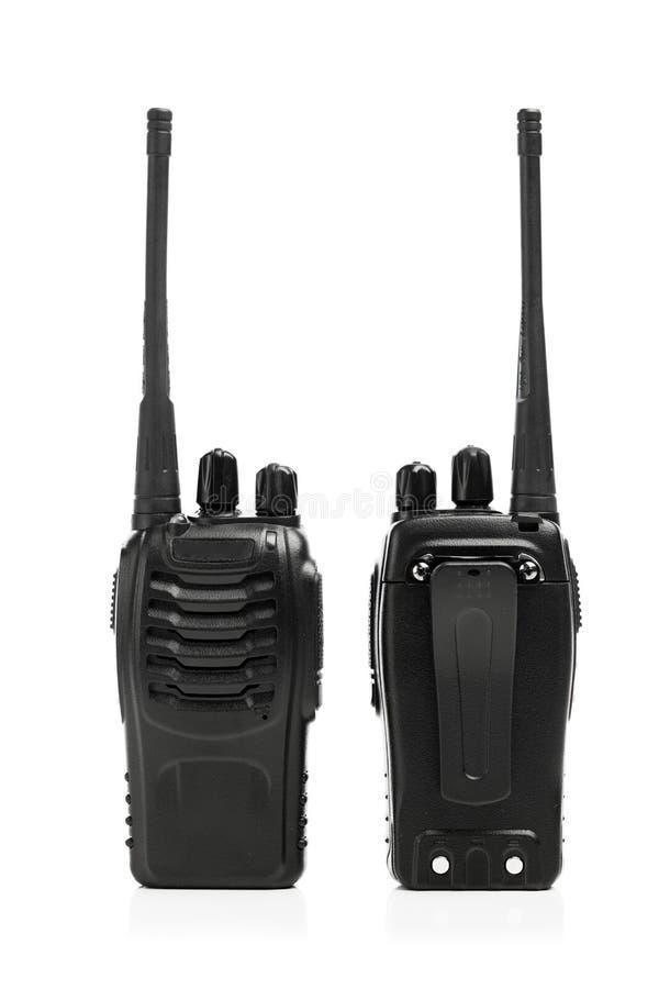 Φορητό Walkie-talkie ραδιοφώνων λευκό στοκ εικόνα