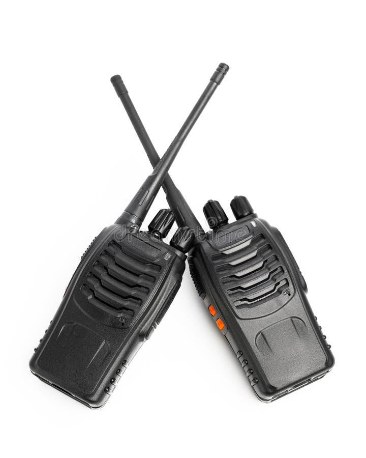 Φορητό Walkie-talkie ραδιοφώνων στο λευκό στοκ εικόνες με δικαίωμα ελεύθερης χρήσης