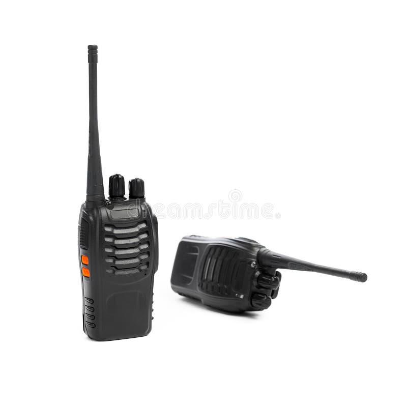 Φορητό Walkie-talkie ραδιοφώνων στο λευκό στοκ εικόνες