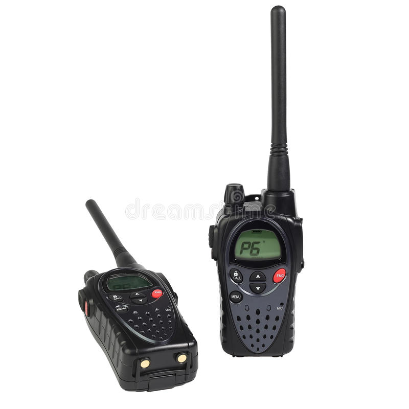 Φορητό walkie-talkie δύο στοκ εικόνες