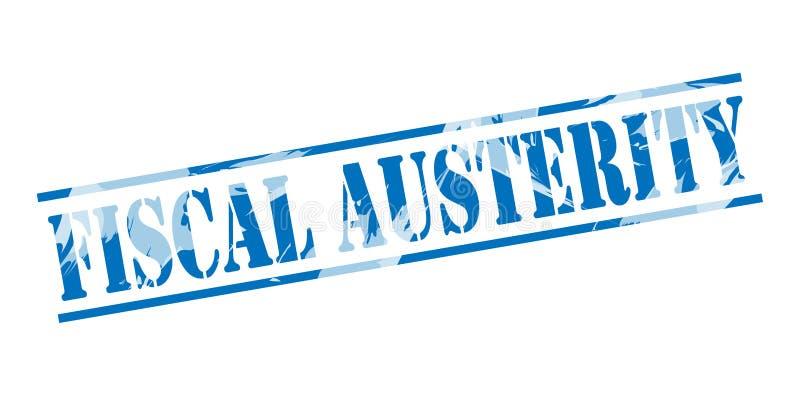 Φορολογικό μπλε γραμματόσημο αυστηρότητας διανυσματική απεικόνιση