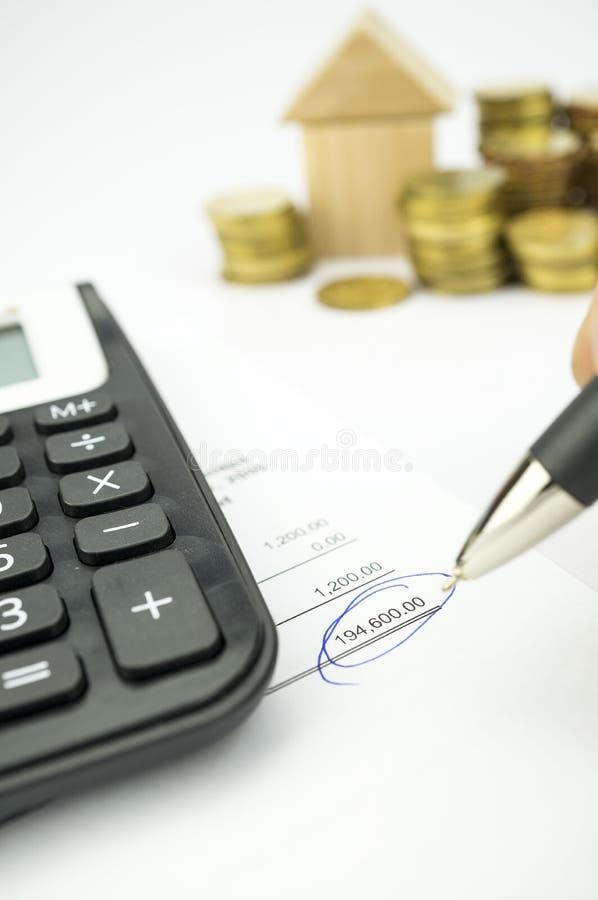 Φορολογία, προσωπικές χρηματοδότηση και σύνταξη προϋπολογισμού στοκ εικόνα