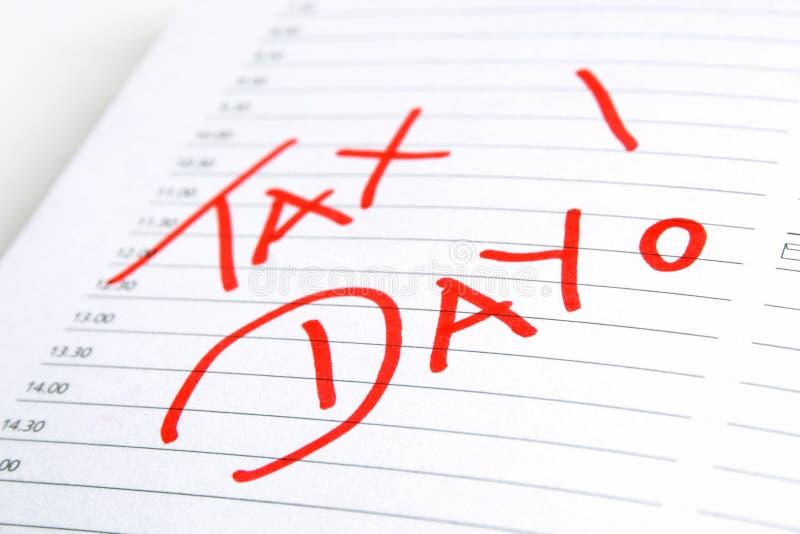 Φορολογική ημέρα στοκ εικόνες με δικαίωμα ελεύθερης χρήσης