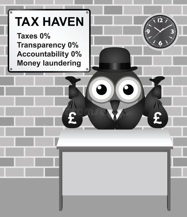 Φορολογικός παράδεισος διανυσματική απεικόνιση