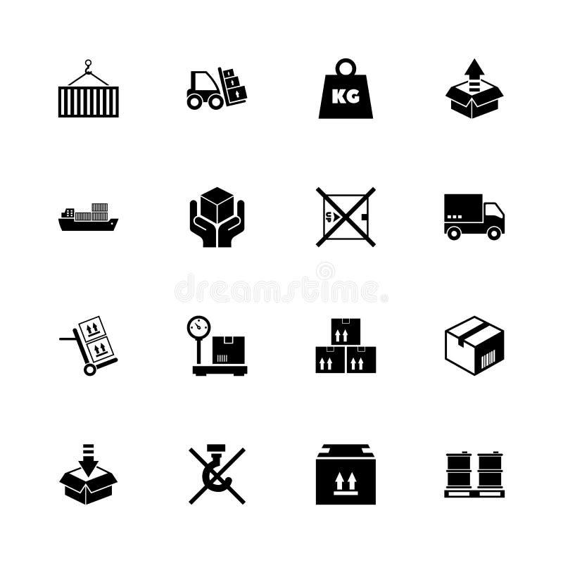 Φορτίο - επίπεδα διανυσματικά εικονίδια ελεύθερη απεικόνιση δικαιώματος