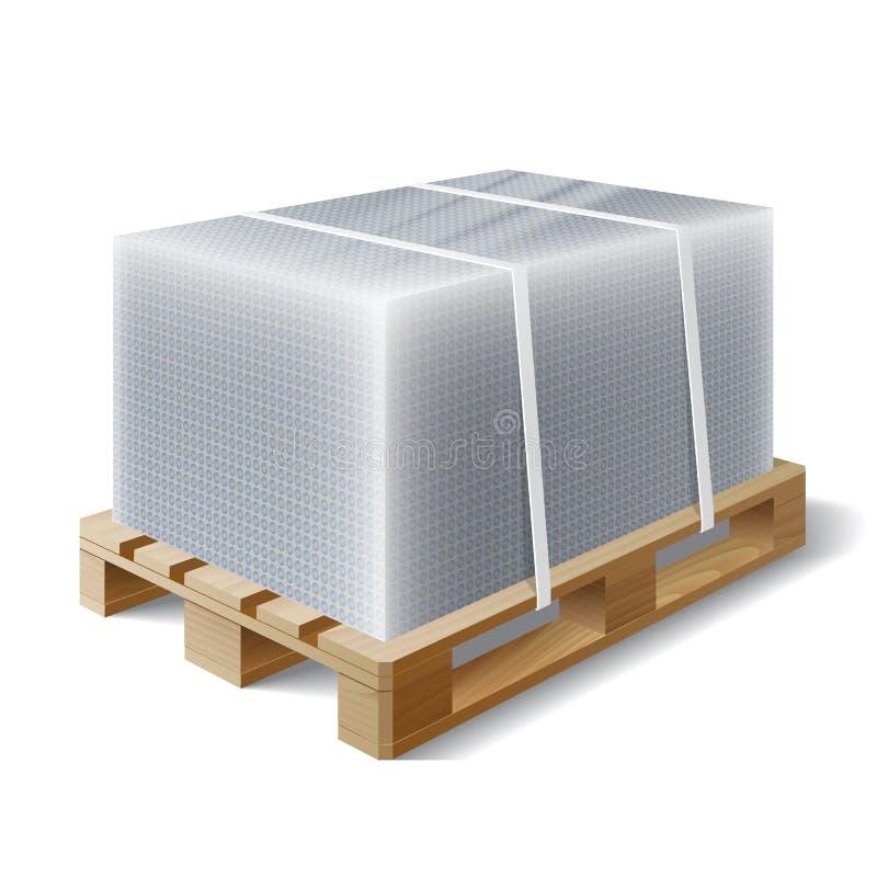 Download Φορτίο σε μια ξύλινη παλέτα Διανυσματική απεικόνιση - εικονογραφία από στείλετε, γκρίζος: 62719352