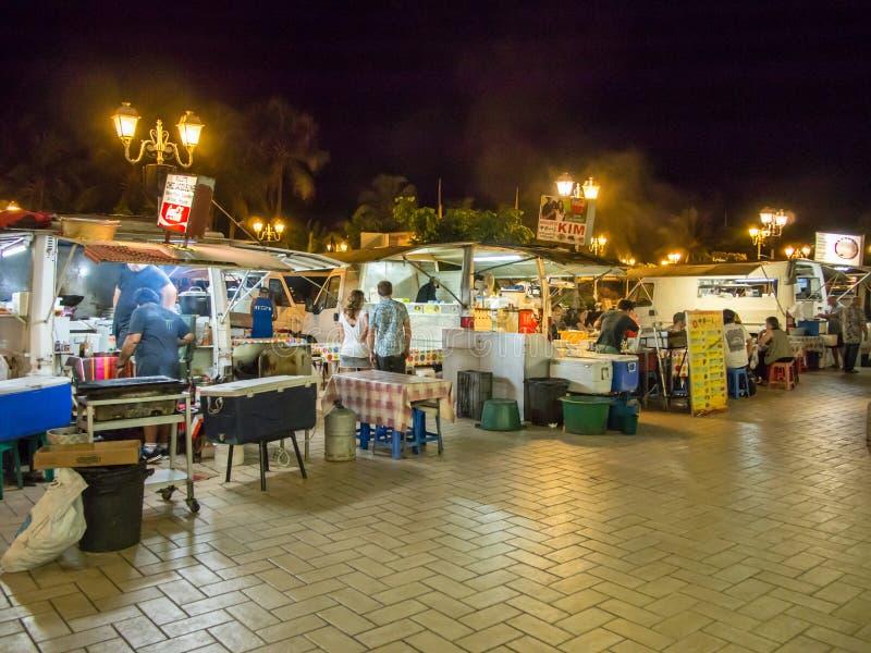 Φορτηγά λιμενικών τροφίμων σε Papeete, Ταϊτή, γαλλική Πολυνησία στοκ εικόνες