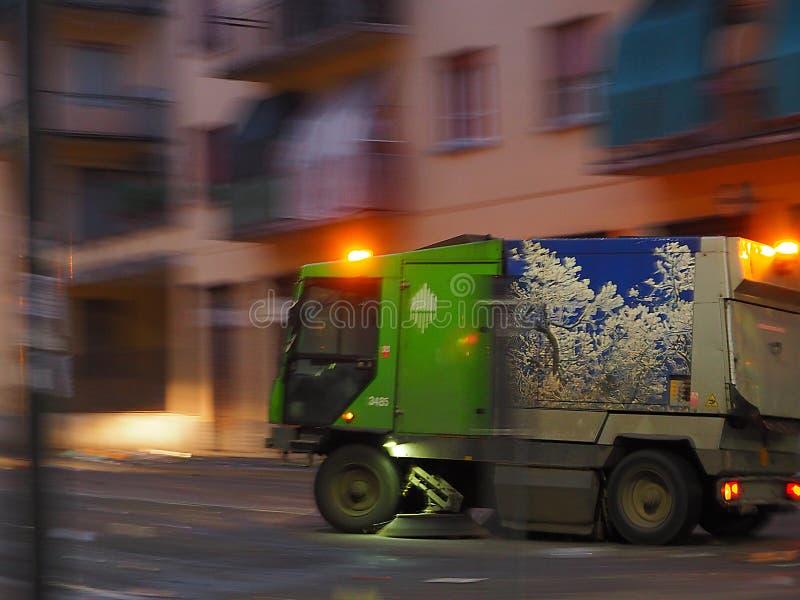 Φορτηγό απορριμμάτων στοκ φωτογραφία με δικαίωμα ελεύθερης χρήσης