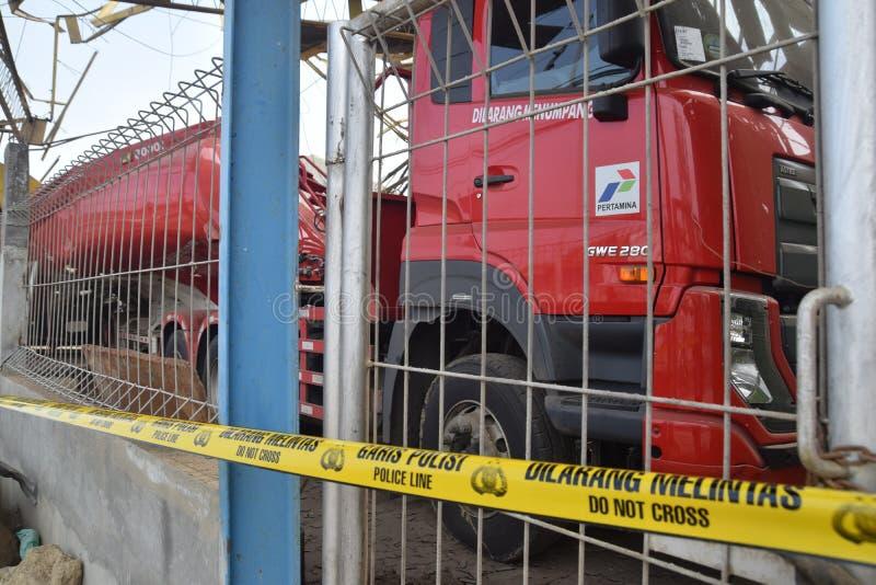 Φορτηγό καυσίμων που εκρήγνυται στοκ φωτογραφίες με δικαίωμα ελεύθερης χρήσης