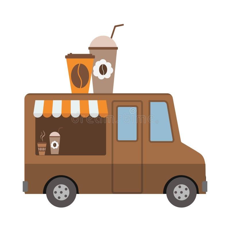 Φορτηγό καφετεριών ελεύθερη απεικόνιση δικαιώματος