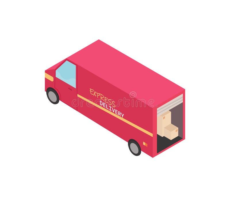 Φορτηγό παράδοσης r απεικόνιση αποθεμάτων