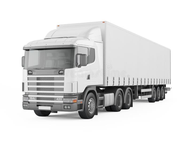 Φορτηγό παράδοσης φορτίου ελεύθερη απεικόνιση δικαιώματος