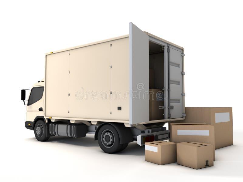 Φορτηγό παράδοσης διανυσματική απεικόνιση