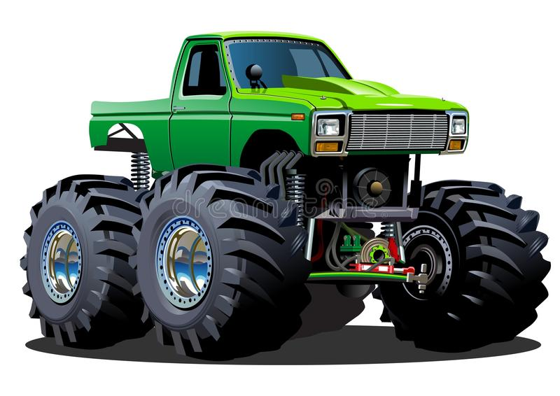 Φορτηγό τεράτων κινούμενων σχεδίων απεικόνιση αποθεμάτων
