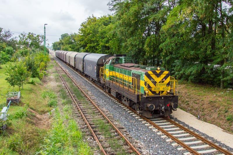 Φορτηγό τρένο GySEV στοκ φωτογραφία με δικαίωμα ελεύθερης χρήσης