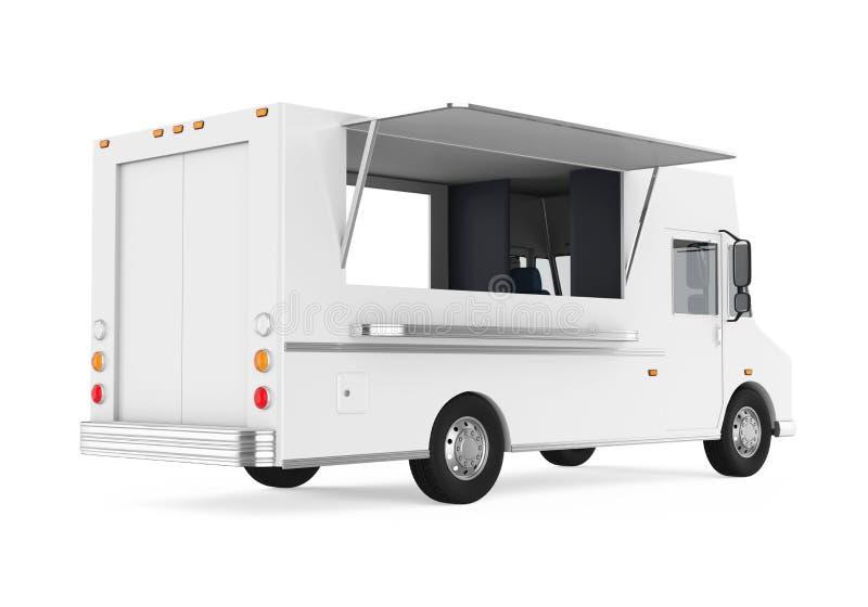 Φορτηγό τροφίμων που απομονώνεται ελεύθερη απεικόνιση δικαιώματος
