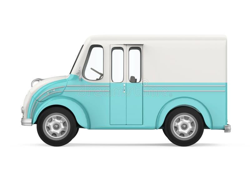 Φορτηγό τροφίμων που απομονώνεται διανυσματική απεικόνιση