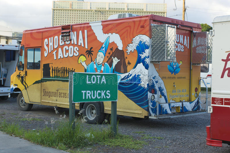 Φορτηγό τροφίμων στοκ εικόνες