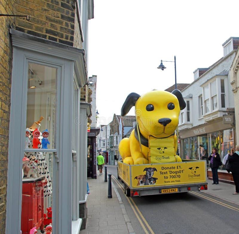 Φορτηγό φιλανθρωπίας εμπιστοσύνης σκυλιών στοκ φωτογραφία με δικαίωμα ελεύθερης χρήσης