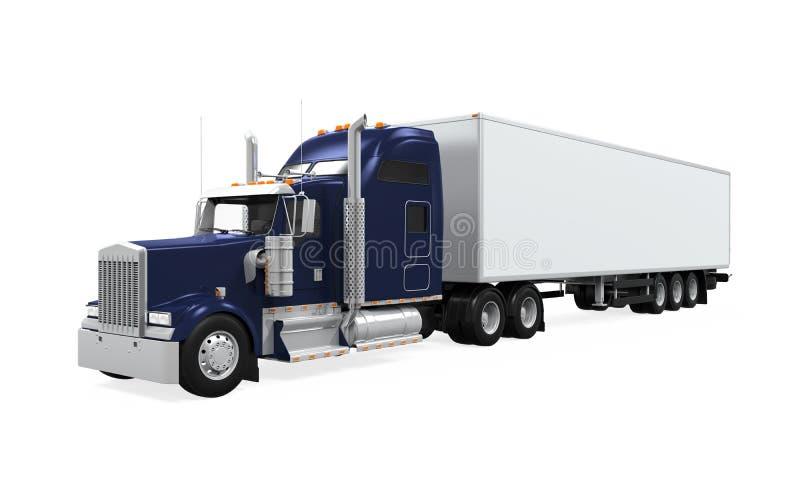 Φορτηγό φορτίου που απομονώνεται ελεύθερη απεικόνιση δικαιώματος
