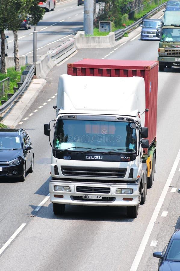 Φορτηγό φορτηγών Χονγκ Κονγκ στοκ εικόνες