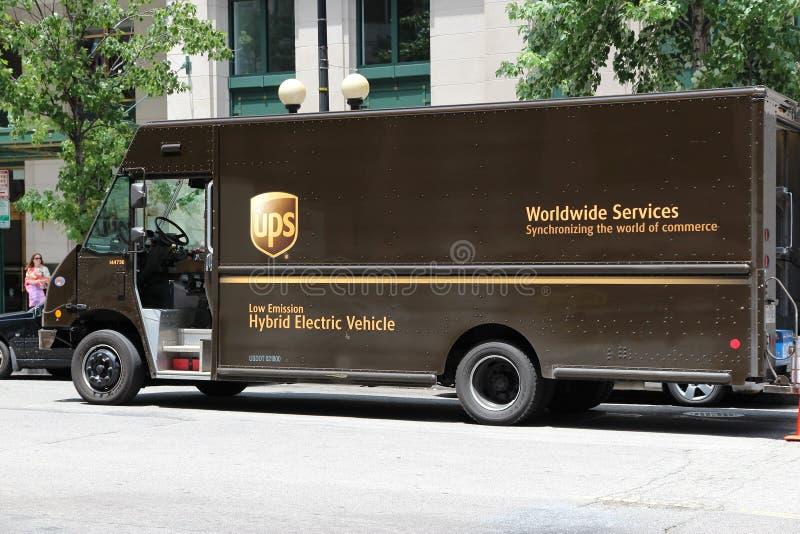 Φορτηγό UPS στοκ φωτογραφία