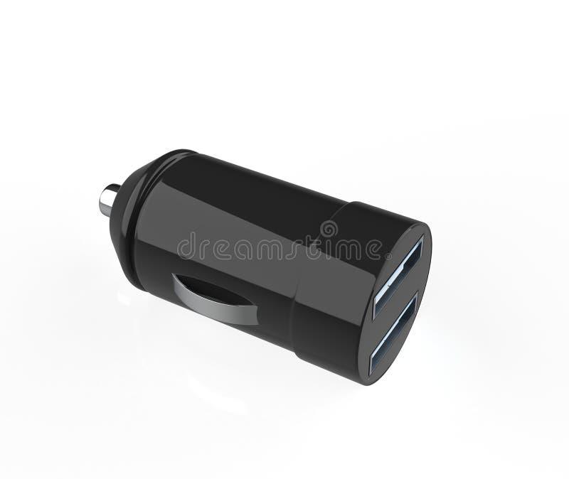 Φορτιστής αυτοκινήτων USB ελεύθερη απεικόνιση δικαιώματος