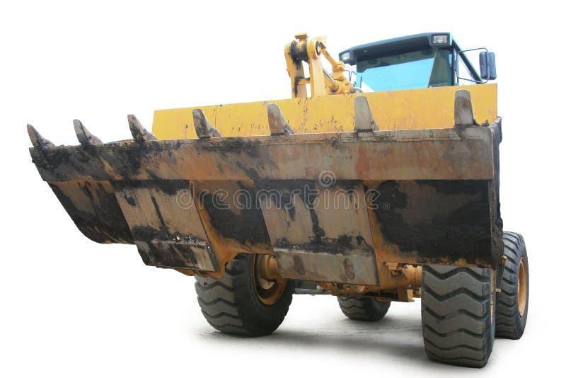 Download φορτωτής κίτρινος στοκ εικόνα. εικόνα από κουτάλα, ανελκυστήρας - 13175701