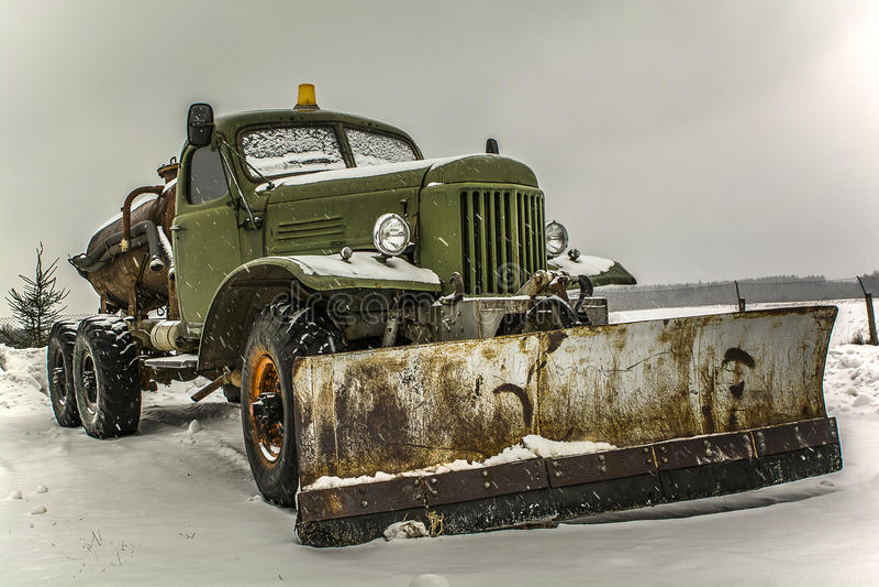 Φορτωτής χιονιού στοκ εικόνες