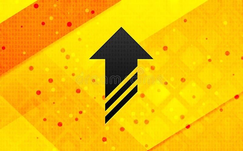 Φορτώστε κίτρινο υπόβαθρο εμβλημάτων εικονιδίων το αφηρημένο ψηφιακό στοκ εικόνες με δικαίωμα ελεύθερης χρήσης