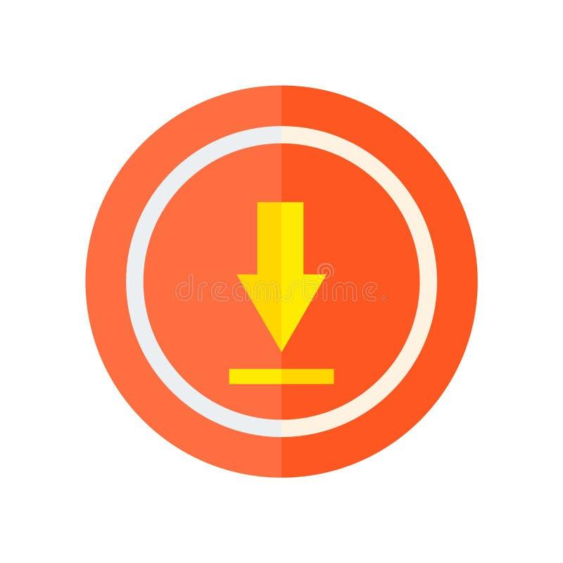 Φορτώστε το διανυσματικό σημάδι εικονιδίων και το σύμβολο που απομονώνεται στο άσπρο υπόβαθρο, φορτώνει την έννοια λογότυπων διανυσματική απεικόνιση